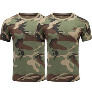 Camouflage Cotton Quick dry Short Sleeve T shirt Outdoor Sports Men Shirts