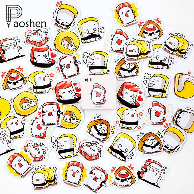 45 Pcs/pack Creative Kawaii Self-made Japanese Cute Sushi Stickers