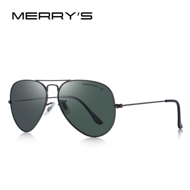 MERRYS DESIGN Men/Women Classic Pilot Polarized Sunglasses 58mm UV400 Protection S8025