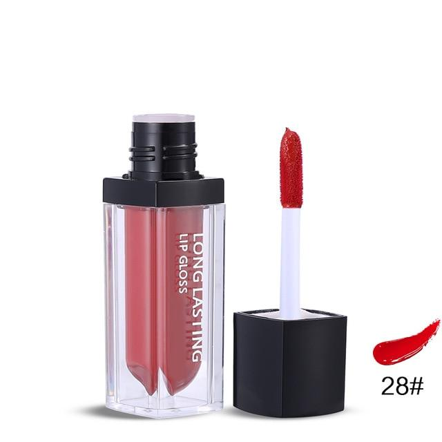 12 Colors Sexy Makeup Lip Gloss Velvet Non-Stick Cup Waterproof Liquid Lipstick