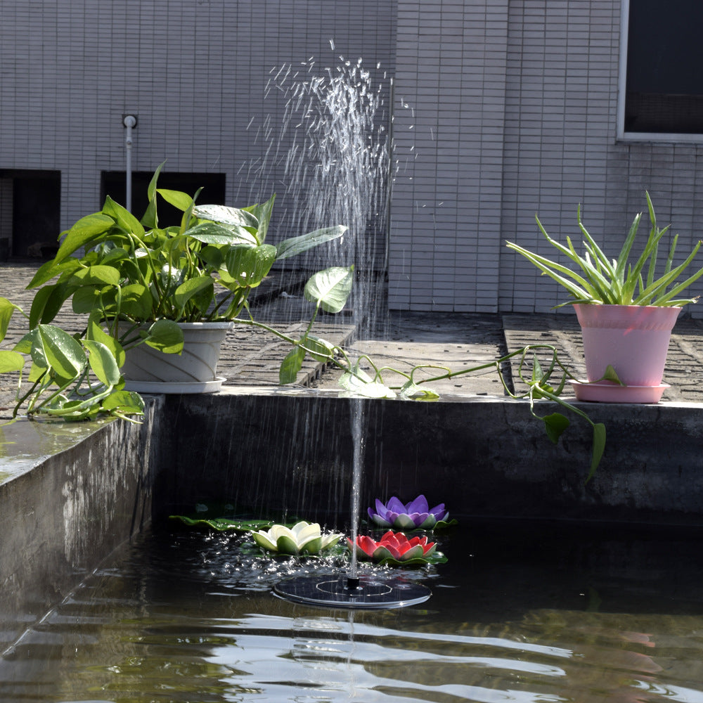 Solar Panel Fountain: Floating Solar Panel Water Fountain