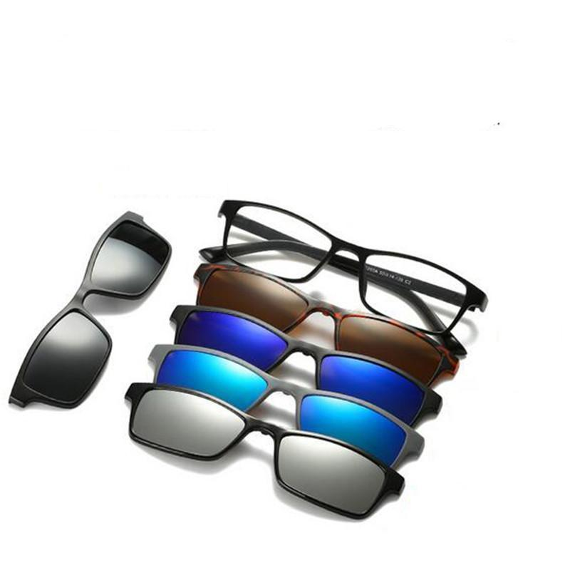 5 in 1 Polarized Magnetic Clip-on Sunglasses