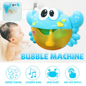 Music Bath Bubble Maker Machine Crab Automatic Toy for Baby Kids