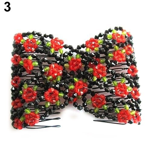 Stretchable Beaded Hair Comb