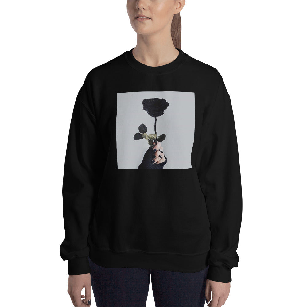 Aesthetic Rose Sweatshirt - Black Aesthetics