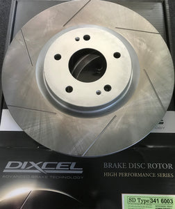 Dixcel SD Slotted Disc Rotor set Front Evo 5-9