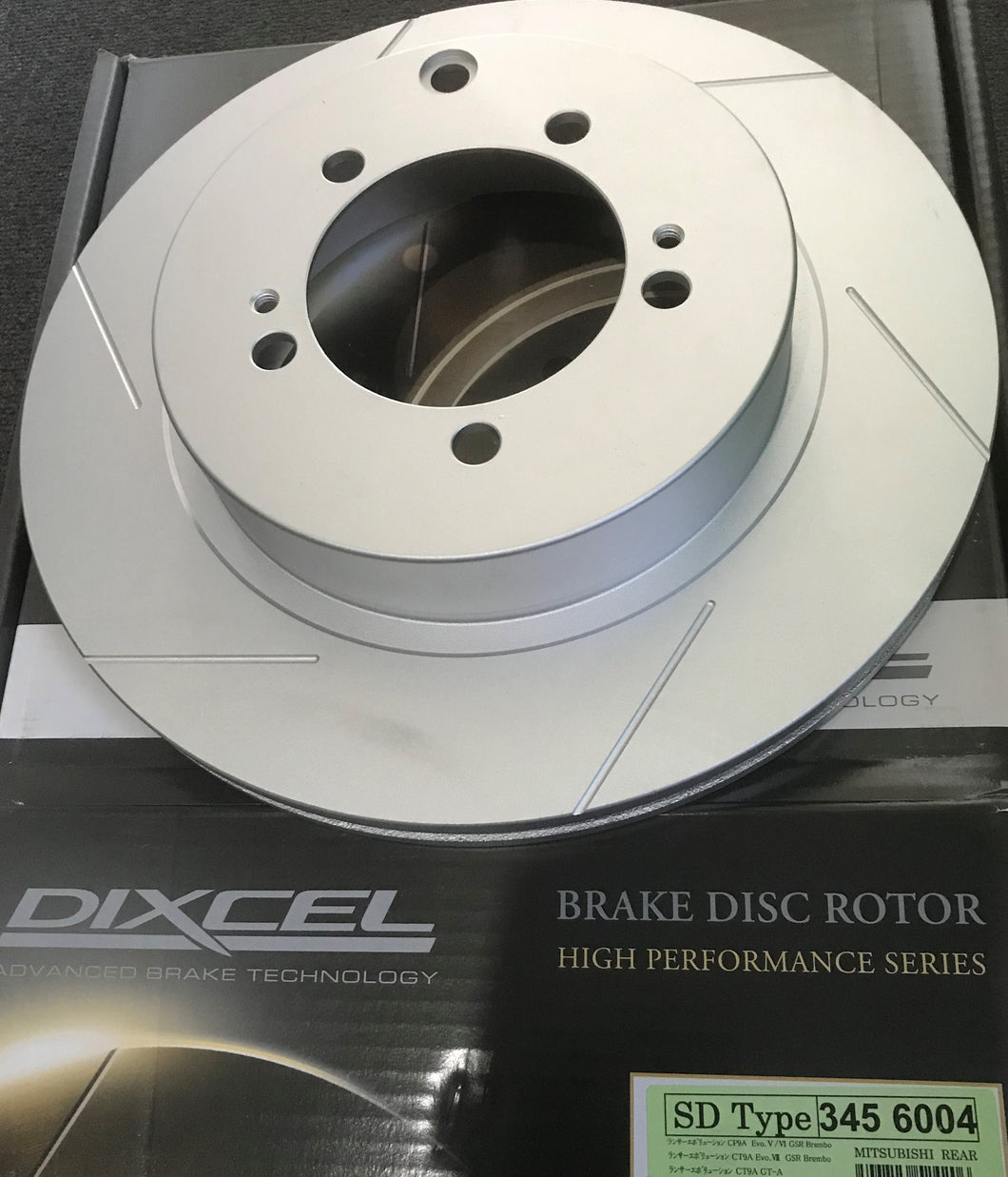 Dixcel SD Slotted Disc Rotor set Rear Evo 5-9
