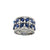18K WHITE GOLD WIDE SAPPHIRE AND DIAMOND RING