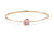 A & Furst Gaia Bangle Bracelet with Rose de France, 18K Rose Gold