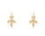 Temple St. Clair 18K yellow gold and diamond Foglia earrings