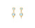Temple St. Clair 18K Double Drop Earrings