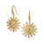 SYNA 18K Yellow Gold Starburst Earrings With Champagne Diamonds