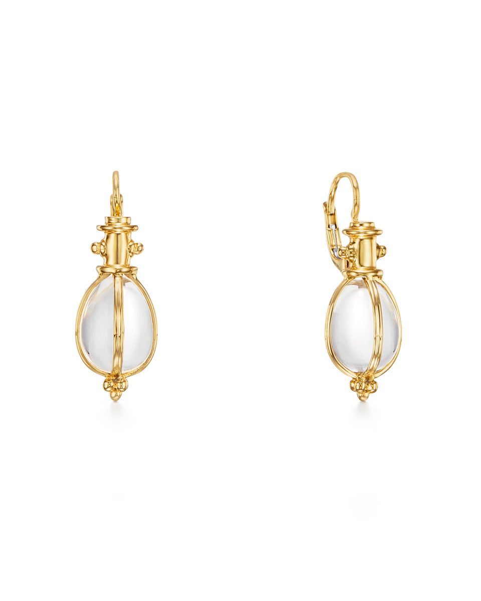 Temple St. Clair 18K Classic Amulet Earrings