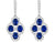 Leonardo Collection 18kt. white gold sapphire and diamond drop earrings