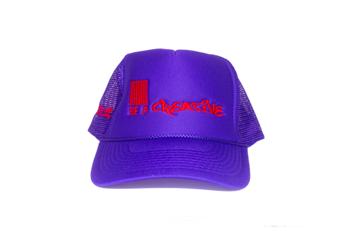 Logo Trucker PURPLE/RED