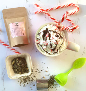 Chocolate Candy Cane Tea Latte