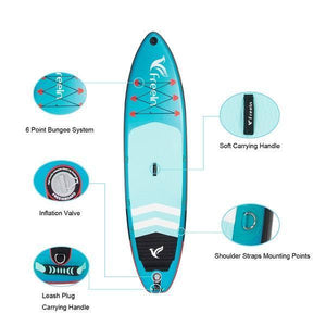 Freein 11' / 10'2 Explorer Inflatable Sup Package-Light Blue