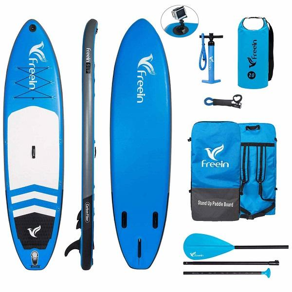 Freein Explorer 11' Inflatable Stand Up Paddle Board Package | Inflatable Paddle Board - Blue