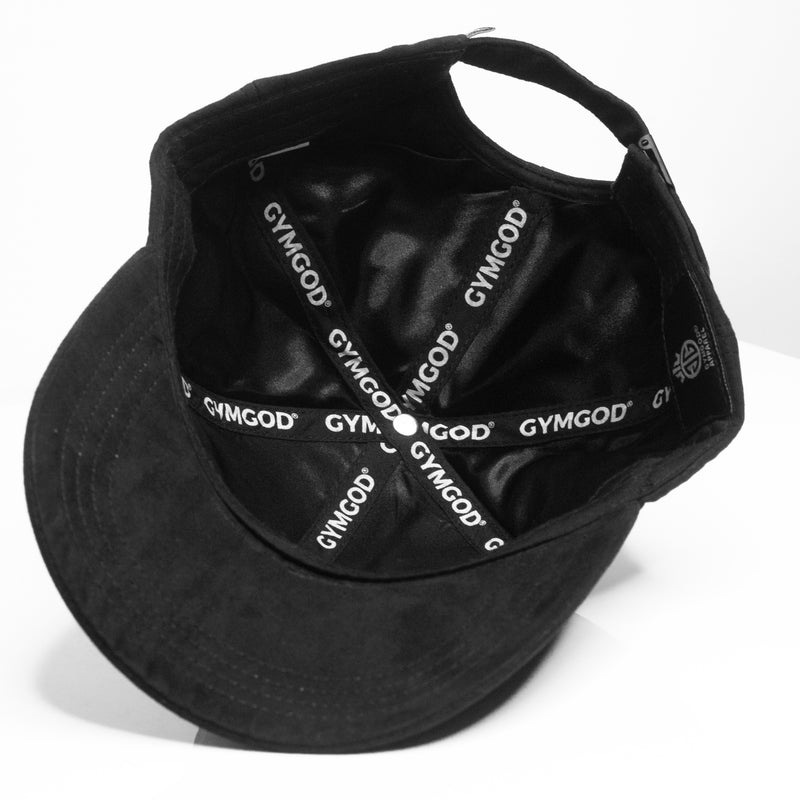 MIDNIGHT BLACK SUEDE BASEBALL CAP - GYMGOD