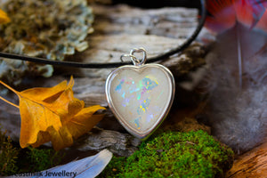 Hand Carved Sterling Silver Heart Pendant