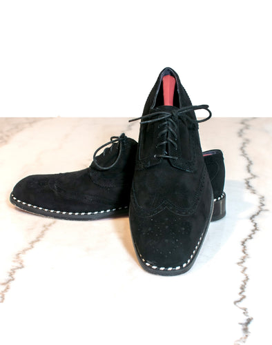 Black Suede Oxford