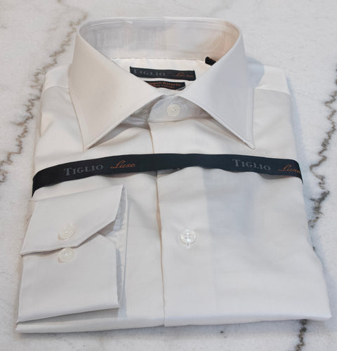 Classic Tiglio Cream Dress Shirt