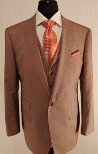 Classic Custom Walnut Brown Suit