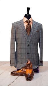 Gray with Brown Window Pane