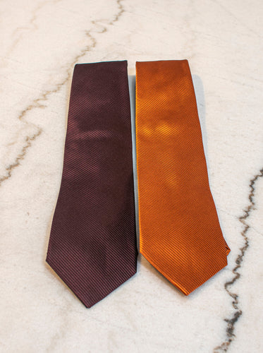 Plumb or Burnt Orange Tie