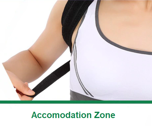 Posture Corrector Front View Accommodation Zone