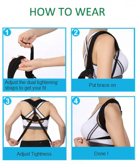 Posture Corrector How To Wear Guideline