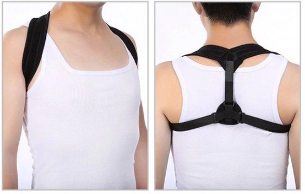 Posture Corrector Front and Back View Male