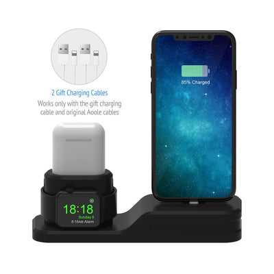 iWatch Iphone Charger Station Dock 3 in 1
