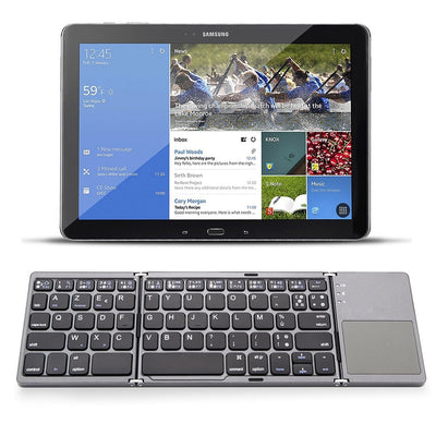 Foldable Bluetooth Wireless Keyboard Touchpad