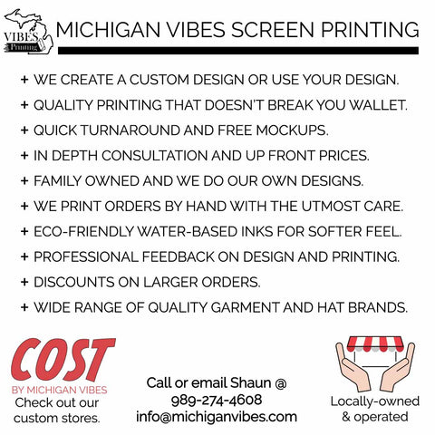 Michigan Vibe Screen Printing