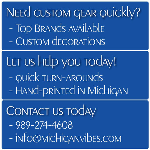 Michigan Vibes Design and Screen Printing Services