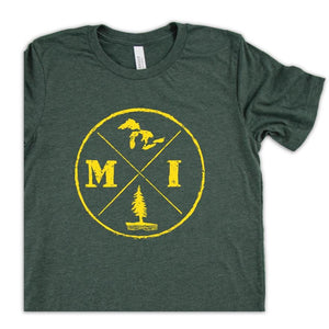 Circle Logo Tee - Michigan Vibes