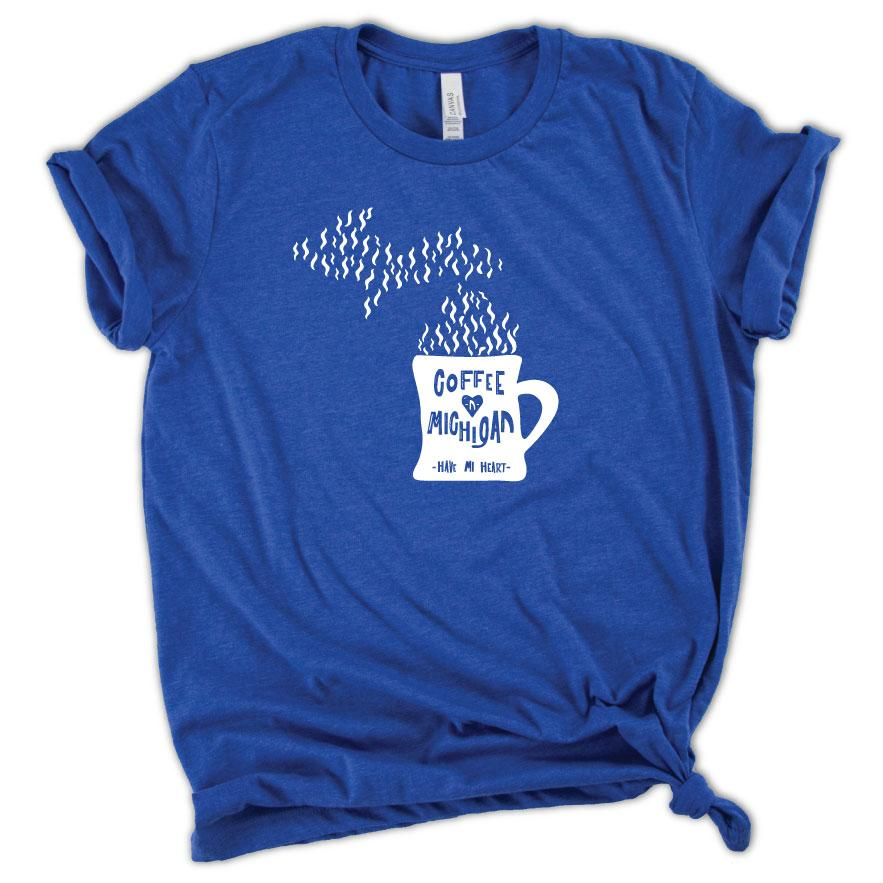 Cup of Michigan Tee - Michigan Vibes