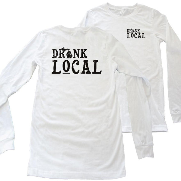 Drink Local long sleeve tee - Michigan Vibes