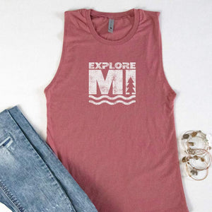 Explore More Muscle Tank - Michigan Vibes