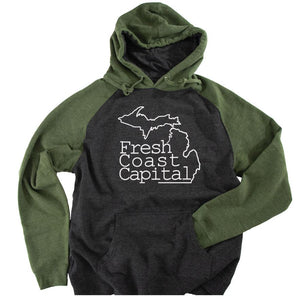Fresh Coast Capital Raglan Hoodie - Michigan Vibes