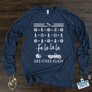 Fun & Festive long sleeve tee - Michigan Vibes