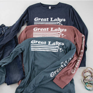 Great Lakes long sleeve tee - Michigan Vibes