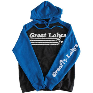 Great Lakes Raglan Hoodie - Michigan Vibes