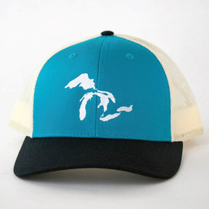 Great Lakes Snapback Trucker Hat - Michigan Vibes