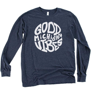 Groovy Vibes long sleeve tee - Michigan Vibes