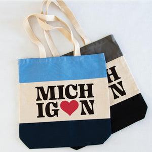 I love Michigan tri-color tote - Michigan Vibes