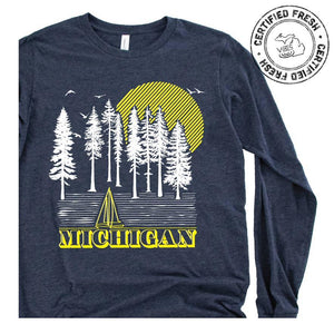 Into the Woods long sleeve tee - Michigan Vibes