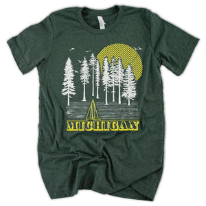 Into the Woods Tee - Michigan Vibes