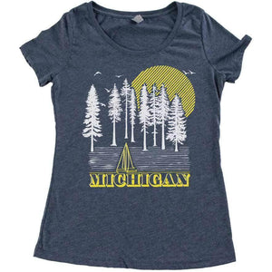 Into the Woods Tri-blend Scoop neck tee - Michigan Vibes